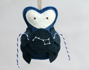 Constellation Ornament Felt Owl, Big Dipper URSA MAJOR, Astronomy Gift Galaxy Christmas Ornament Plush by OrdinaryMommy on Etsy