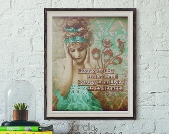 Boho Chic Printable Wall Art - Bohemian Digital Download - Printable Art - Print Your Own Images for Home Decoration - Decoupage Paper