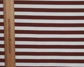 """Brown/white stripes 1/2""""  knit 3/4 yard cotton lycra"""