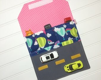 Car Wallet - Holds 5 of your childs favorite cars - Hot air balloons