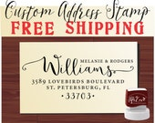 Calligraphy Handwriting Script Custom Return Address Stamp - Personalized stamp Wedding Stationery Stamper - Style 1162K