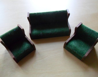 Doll House Green Chairs and Sofa