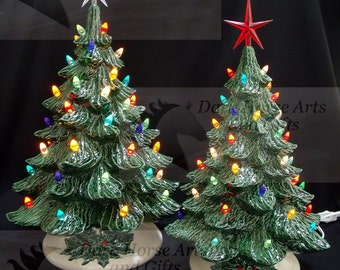 SALE Lighted Ceramic Christmas Tree Collection 7 inches