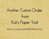 Custom Order: 50 Cards - 25 pink 25 light green