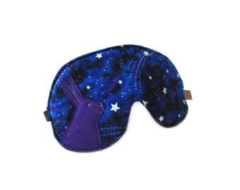 eyemask rabbit -glow in the dark- stars blue night mask