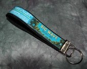 Wristlet KeyChain from Recycled Kona Brewing Big Wave Golden Ale Beer Labels