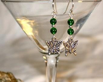 Butterflies in Flight Dangle Earrings