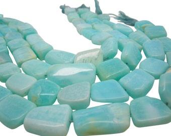 Blue Peruvian Opal Beads Oval, Smooth Nuggets, Peruvian Opal Beads, SKU 4433A