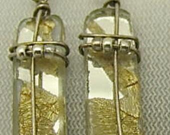 Mirror Earrings, Sixties Mirror Tile Earrings. Glass Tile Earrings.