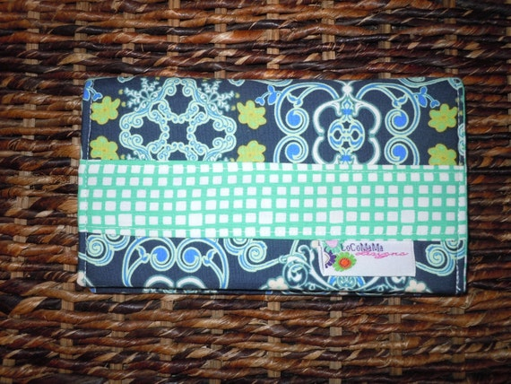 Fabric Cheque Book Cover : Fabric checkbook cover duplicate checks pen by locomamadesigns
