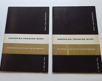 American Theatre Wing Catalog 1957-1958, Actors Professional Training Program NYC, Performing Arts School NYC 1950s, Drama School 1950s