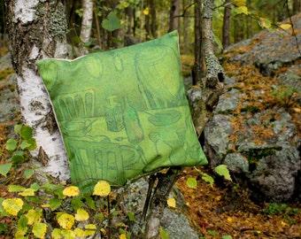 Garden party pillowcase for throw pillow
