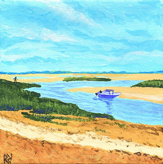 Nautical Wall Art Original Painting Eastham Cape Cod