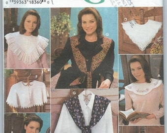 Simplicity 9844 Misses' Collars Blue Wax Transfers for Embroidery Included - Uncut Vintage Pattern
