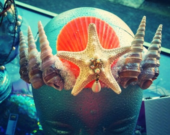 Queen of the Mermaids Sea Shell Crown