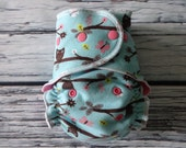 One Size Fits Most Fitted Cloth Diaper in Owls by Soothe Baby