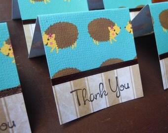 Hedgehog Mini Thank You Cards 2x2 (6)