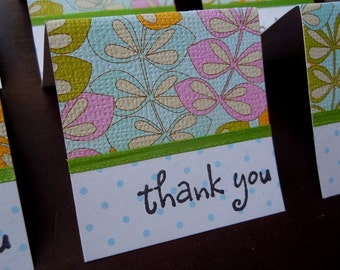 Colorful Leaves Mini Thank You Cards 2x2 (6)