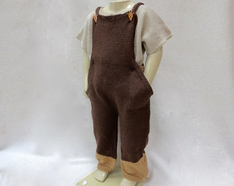 Pure Linen Knit Romper/Overall for Toddler Boy - 2T Ready to Ship