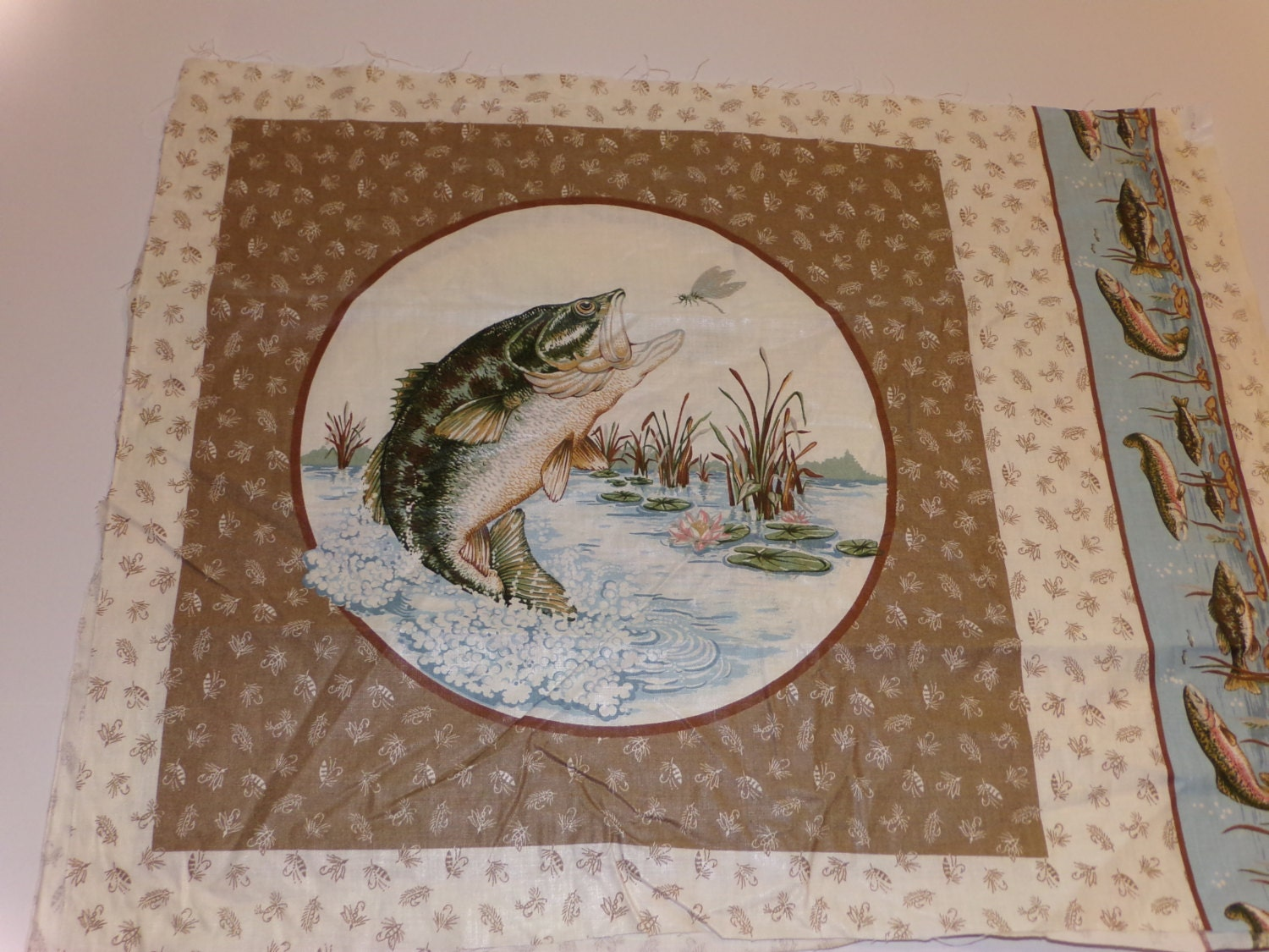 V.I.P. Cranston GONE FISHING Fabric Panels