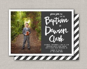 LDS Baptism Invitation - Dawson