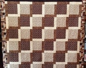 Black History Sale Dreaming of Chocolate 72 x 75 inch lap quilt