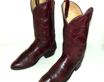 Deep Burgundy Dan Post cowboy boots mens size 10.5 D / womens 12 western wear