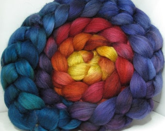 Merino Yak Bombyx Silk 60/20/20 Ecru Roving Combed Top - 5oz - Joy 1