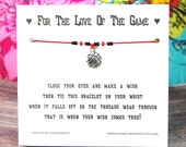 For The Love Of The Game - Wish Bracelet With Basketball Charm - Custom Made In Your Team Colors!!!