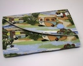 Compact Wallet with coin purse - Retro holiday