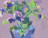 Pansies----sketch, oil painting, pansies, floral, quick paint