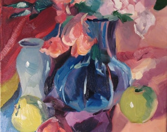 Beguiled...a still life painted in oils by South Carolina artist Linda Hunt