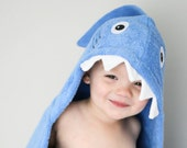 Personalized Yikes Twins Shark hooded towel
