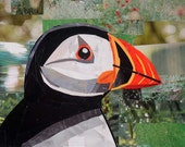 All You Need is Love...And Puffins, 5x7 inch ORIGINAL COLLAGE ART