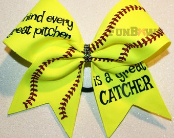 Amazing Softball Catcher Hairbow by FunBows !