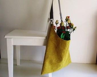 Slouchy Yellow/ Mustard Shoulder Bag