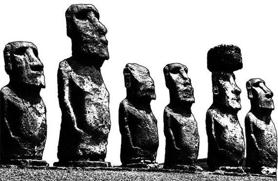 Easter Island stone Statues clipart png clip art digital download graphics image art printable digi stamp landscapes ancient places wonders
