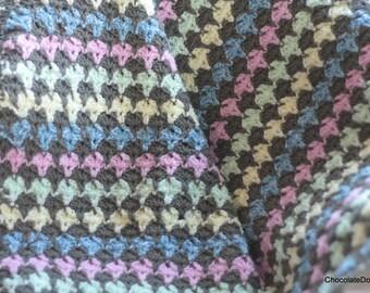 Baby blanket crochet afghan gender neutral