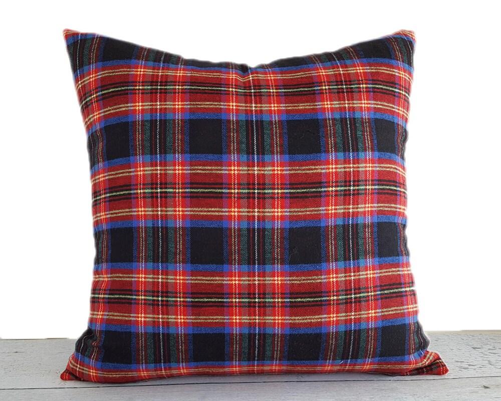 Rustic Throw Pillows Black Red Pillows Black Red Plaid