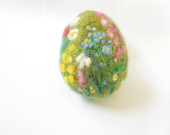 Easter Egg,Needle felted egg,Spring Ornament,needle felted ornament,Easter