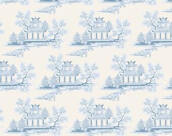 Tilda Fabric, Tilda China Blue Fat Quarter, The Seaside Life Collection, Pure Cotton Fabric, Fat Quarter, 50 cm x 55 cm