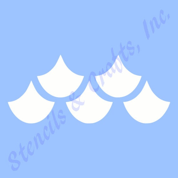 fish scale stencil pattern template templates stencils pochoir art
