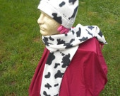 Cow Hat and Scarf Set