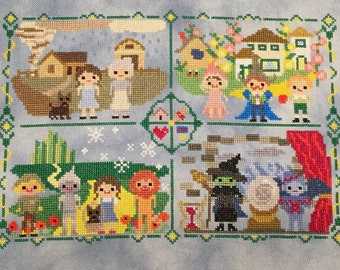 Oz Sampler Stitch-Along: Wizard of Oz Inspired Parody Cross Stitch PDF Pattern