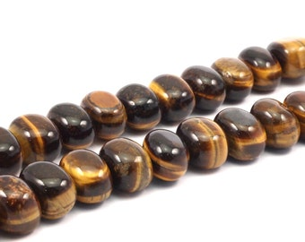 Tiger eye 16mm  Gemstone Barrel Beads 15.5 inches T016