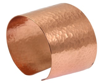 7 Year Anniversary Gift  Wide Hammered Copper Cuff Bracelet 7th Anniversary Gift For Her Seven Year Anniversary Gift Copper Anniversary Gift