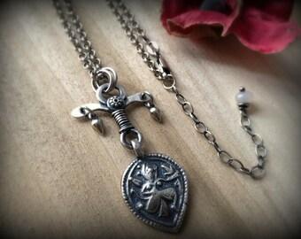 Shiva amulet, sterling silver, spiritual jewelry, yoga jewelry, Hindu amulet, Dancing Shiva pendant, Rajasthani amulet, ready to ship