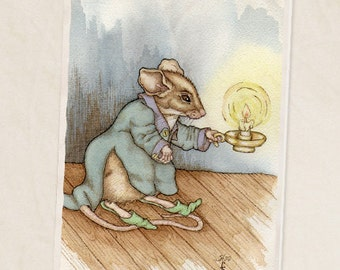 "A Little Light 5""x7"" blank greeting card"