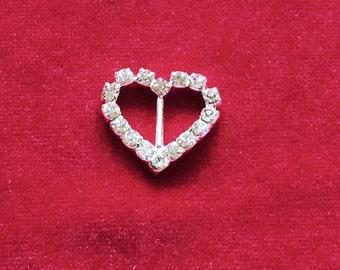 20 MM x 22 MM Rhinestone Heart Slider