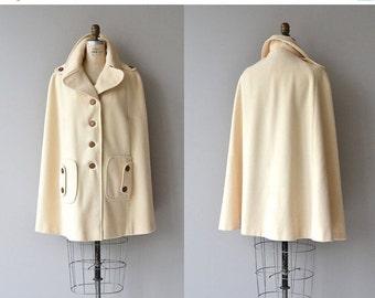 25% OFF.... Juli de Roma cape | vintage 1970s wool cape | cream wool cape coat